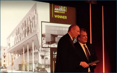 "3TI won ""Mixed-Use Buildng of the year"" award prize at Leaf Awards 2017"