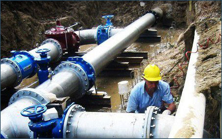 Technical survey of the 1700 km of potable water for AQUALATINA S.p.A