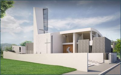 Work continues on the Church of the Holy Family in Cassino