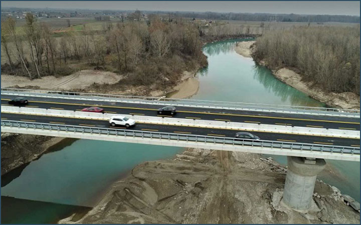 Bridge over Tagliamento river opened before Christmas