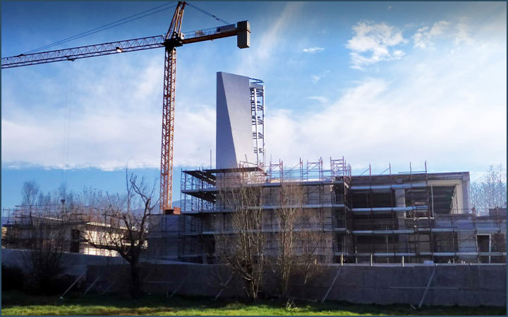 Church of the Holy Family in Cassino work in progress