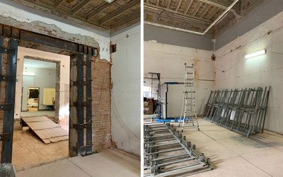 "The works for restoration of ""Palazzo dei Diamanti"" ground floor are going on!"